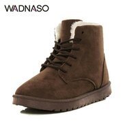 Suede Keep Warm Lace Up Ankle Flat Snow Casual Boots