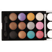 12 Colors A Set Glitter Eye Shadow Eyeshadow Palette Waterproof Long Lasting With Mirror Brush