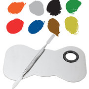 Stainless Steel Mixing Palette Spatula Cosmetic Makeup Nail Eye Beauty Tool Kit