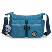 Women Nylon Crossbody Bag Waterproof Solid Shoulder Bag