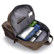 Men Outdoor Dual-use Canvas Backpack Laptop Backpack