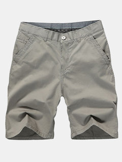 Summer Plus Size Casual Knee Length Cotton Blended Beach Shorts For Men