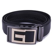Male Genuine Leather Automatic Lock Stainless Steel Buckle Belts