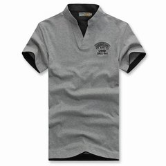 Mens Summer Solid Color Short Sleeved Cotton Polo Shirt