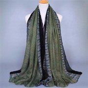 Women Long Snakeskin Grain Cotton Scarf Wrap Shawl Large Scarves