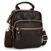 Men Women Genuine Leather Crossbody Bag Outdoor Waist Bag