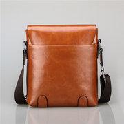 Men Business Retro Hasp PU Leather Shoulder Bags Crossbody Bags