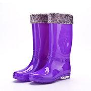 Pattern Водонепроницаемый ПВХ Резина Теплый колено высокие некурящих сапоги скольжению дождь
