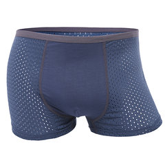 Men's Elastic Waistband Soft Modal Comfortable Boxer Breathable Mesh U Convex Underwears