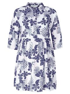 Половина рукава Цветочные Печатный Летнее платье для женщин