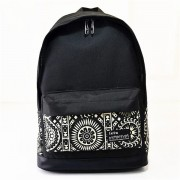 Canvas Color Printing Pattern Backpack