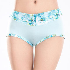 Women Sexy Floral Printing Breathable Panties Bamboo Fiber Seamless Underwear