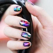 Glitter Shiny Metal Nail Art Transfer Foil Sticker Roll Decals