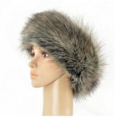 Ladies Russian Tick Fluffy Faux Fox Fur Hat Headband Winter Earwarmer Ski Hat