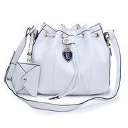 Fahsion Women Bucket String Leather Crossbody Bag