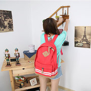 Girl Travel Canvas Leisure Rucksack Backpack