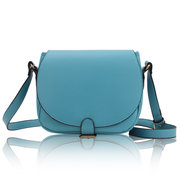 Women Candy Color PU Leather Casual  Messenger Crossbody Bag