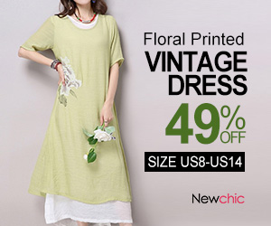 Short Sleeve O Neck Floral Printed Split Vintage Dress SKU413090?Utm_source = Blog & utm_medium = 62804 & utm_content = 2592