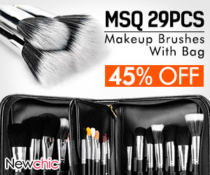 MSQ Professional 29Pcs Superior Soft Makeup Brushes With Bag SKU468229
