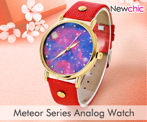 PU Leather Meteor Series Analog bracelet watch