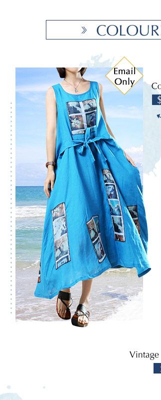 Color Block Printed Dress