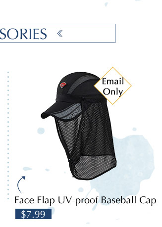Face Flap UV-proof Baseball Cap