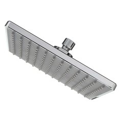 ... 9u0027u0027 Square Metal Top Rainfall Shower Head Extension Pipe Chrome  Bathroom ...