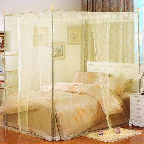 Queen Canopy Bed Curtains 150x200cm three-door palace mosquito netting bed curtain canopy