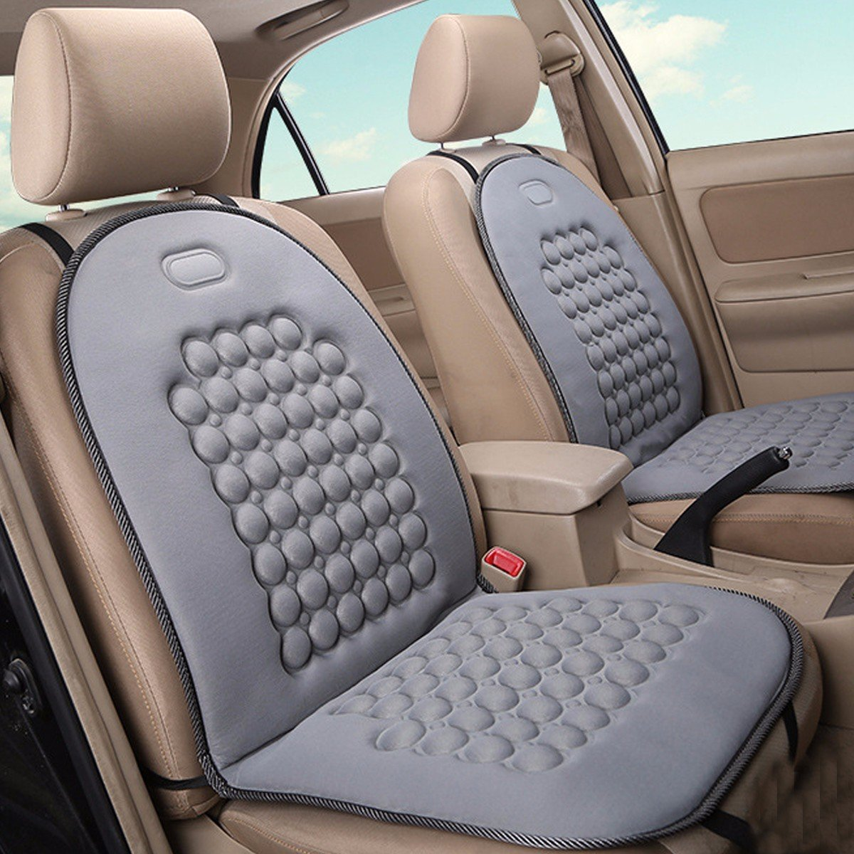 car seat cushion therapy massage cover padded bubble foam grey home office chair cover is worth. Black Bedroom Furniture Sets. Home Design Ideas