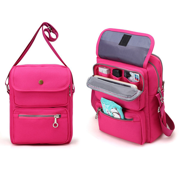 Women Nylon Travel Passport Bag Crossbody Travel Bag Useful ...
