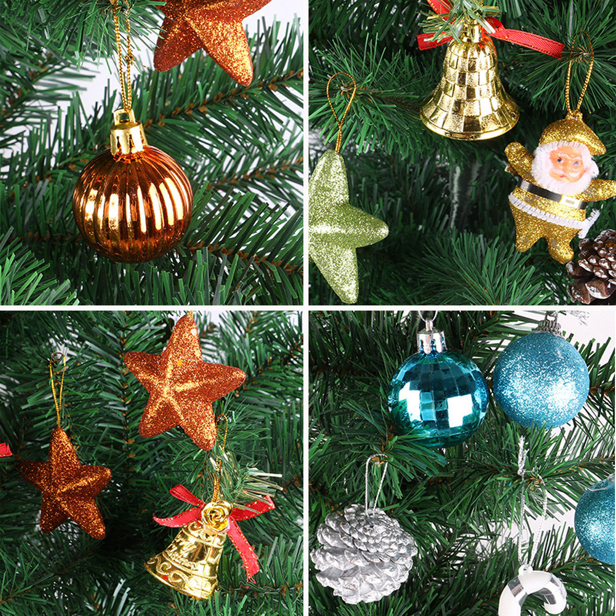 christmas decorations ornament xmas tree hanging pendant ball senta claus pine - Designer Christmas Decorations
