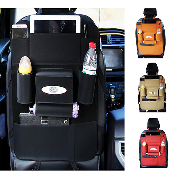 Favorable 5 Styles Leather Car Storage Bag Multi Compartment Car