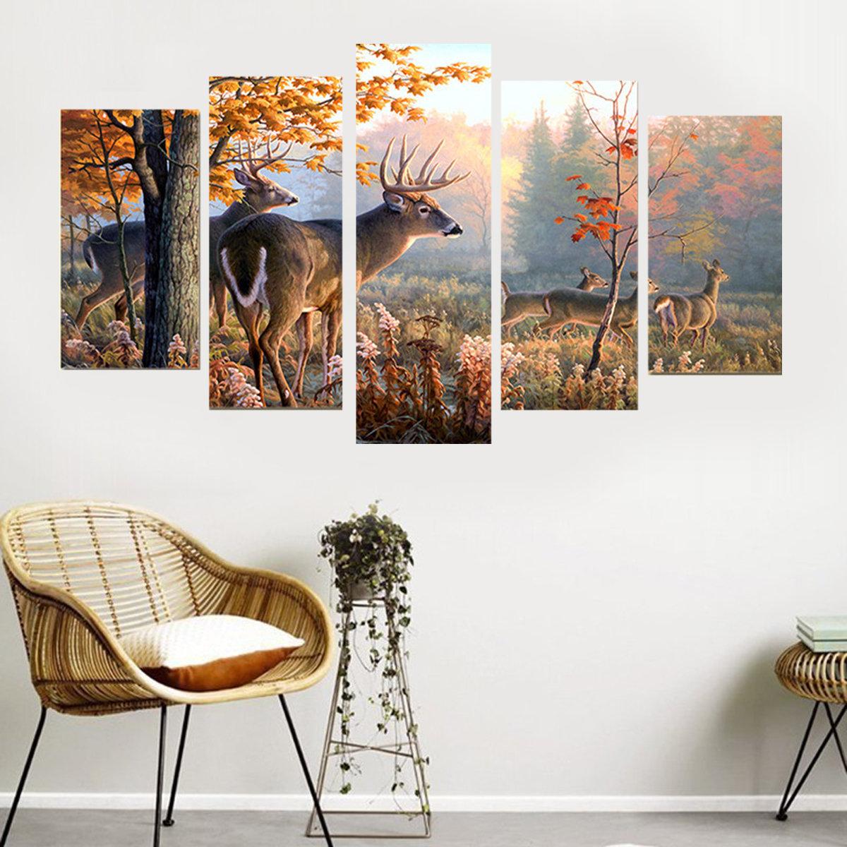 5pcs unframed moderne anstrich segeltuch wand kunst bild for Wand kunst wohnzimmer