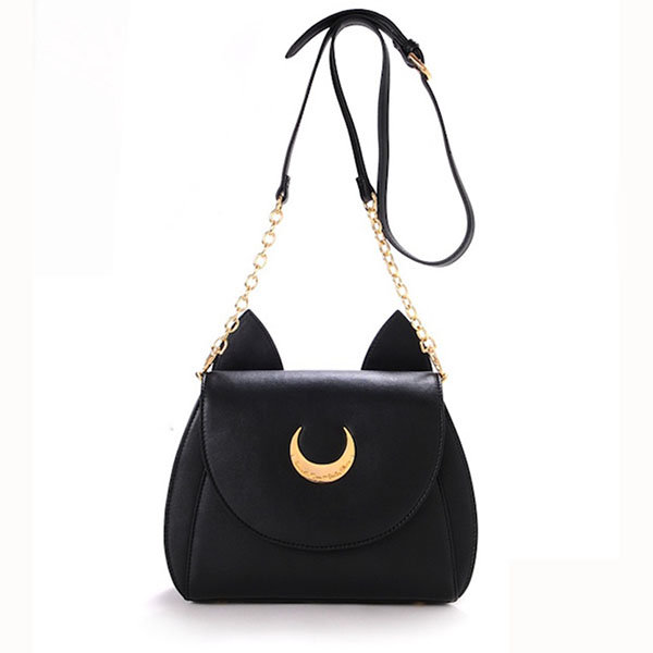Women Sweet Moon Print Ear Pattern Design Crossbody Bag Shoulder ...