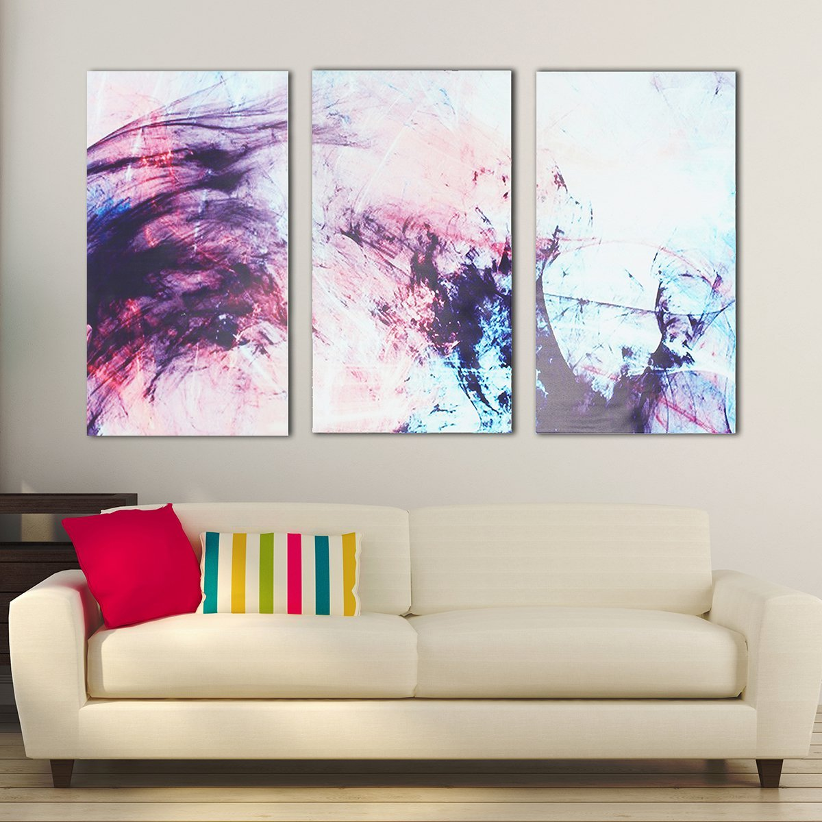 3pcs Abstract Stretched Canvas Prints Framed Wall Art Home Office ...