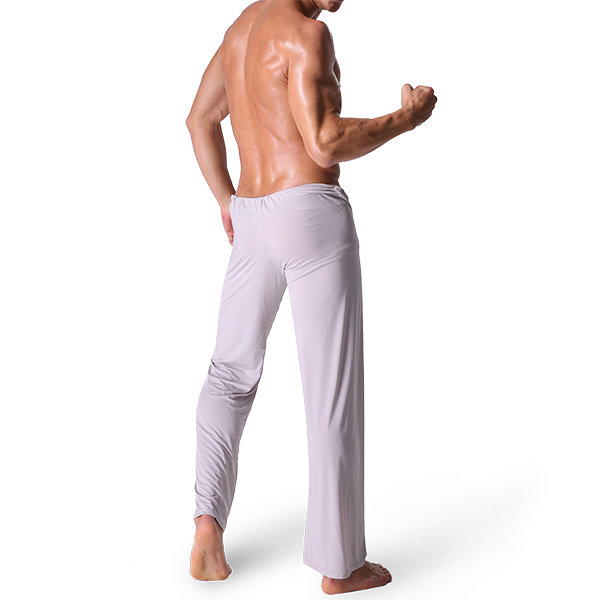 Sexy Yoga Pants Home suave respirável sedoso Loose Pijamas Leggings para homens