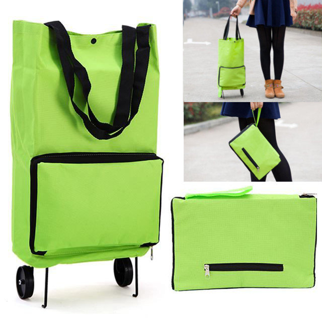 Protable Shopping Trolley Bag With Wheels Portable