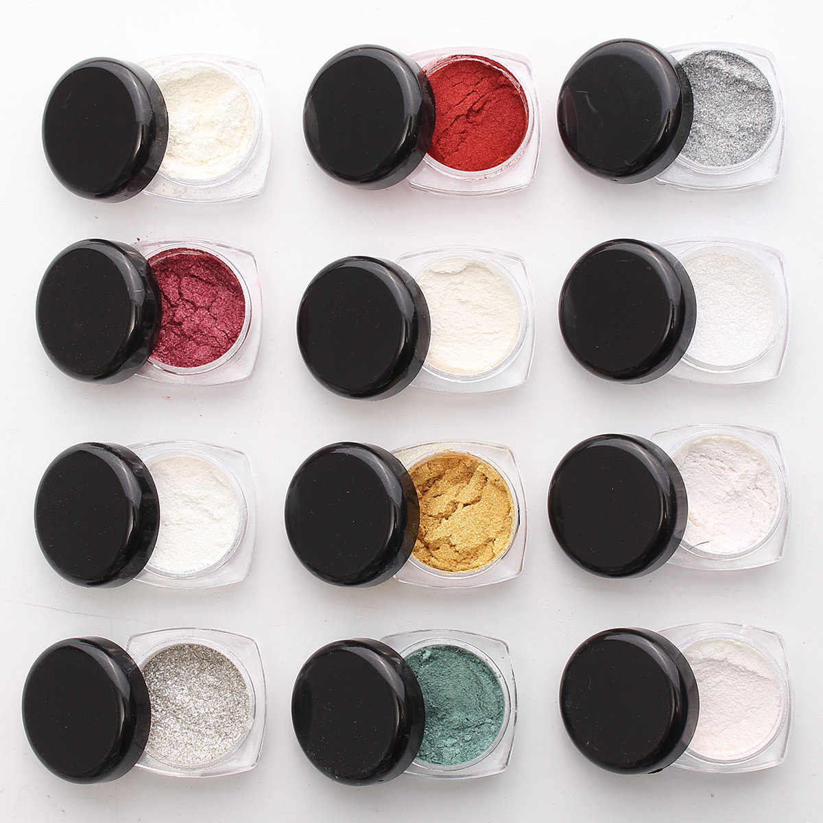 Dancingnail Mirror Chrome Effect Nail Art Powder 12 Colors Kit