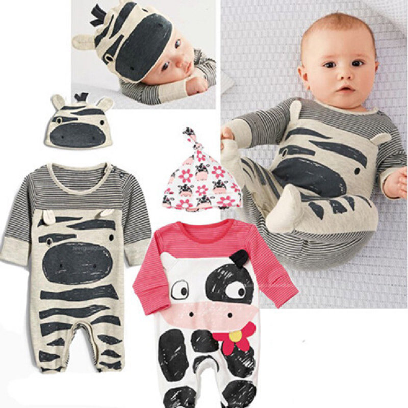 Animal Pattern Baby Romper For 0-18M