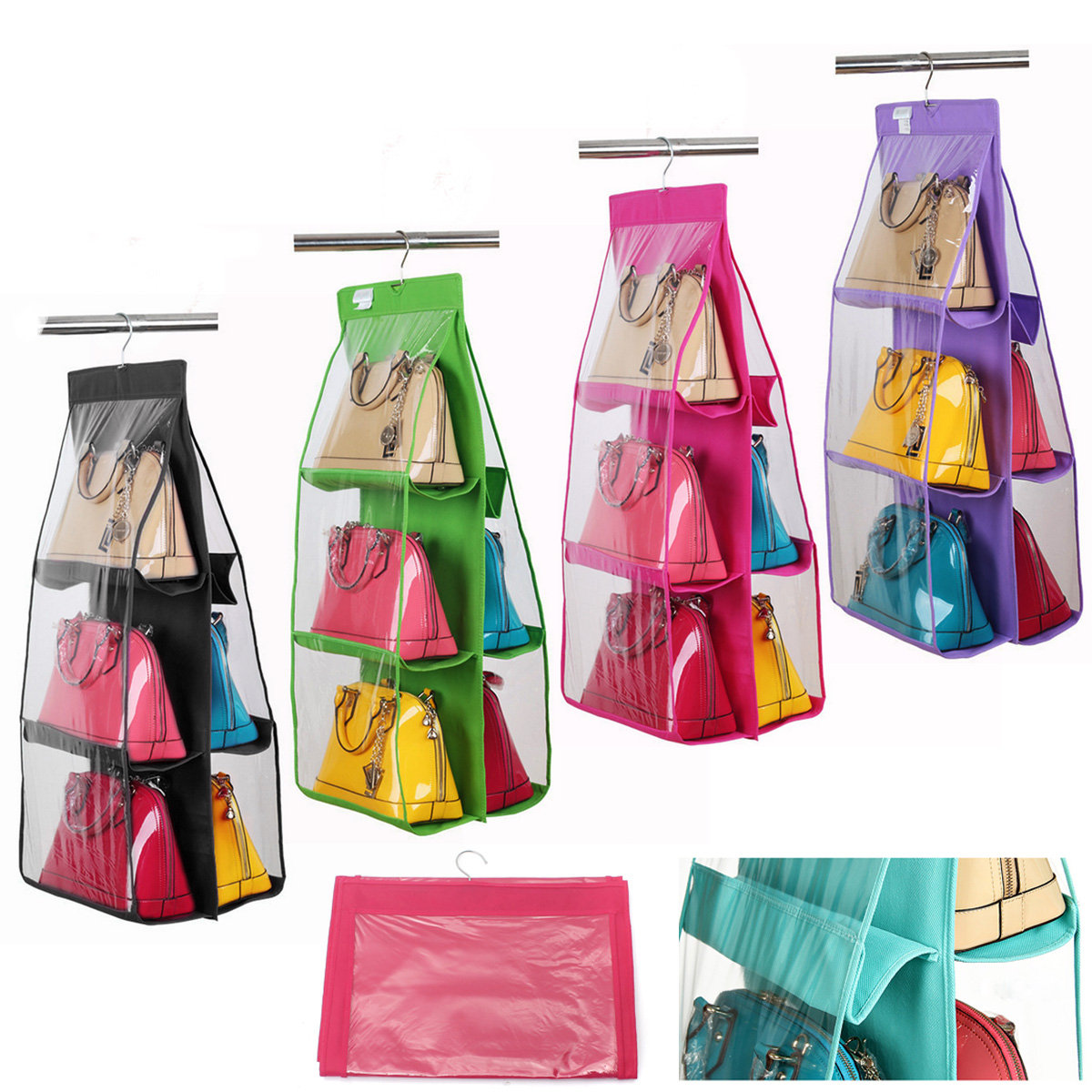 shipped closet only over hanging purse low pack organizer as for or door the racks