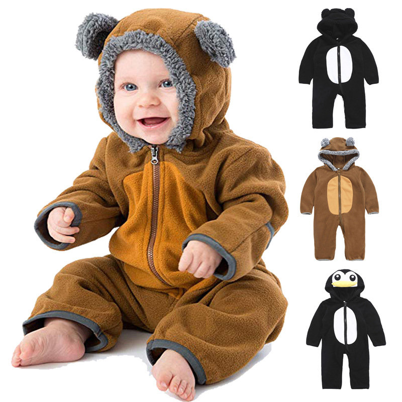 Animal Shaped Baby Jumpsuit For 0-24 Months