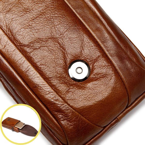 Bolsa lumbar de cuero genuino de patrón de cocodrilo bolsa de móvil en bandolera para hombres