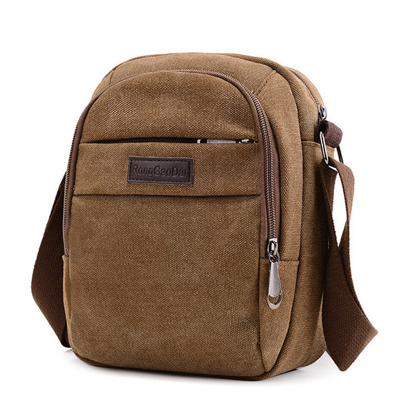 Casual Canvas Sling Bag Retro Crossbody Bag Shoulder Bag For Men ...