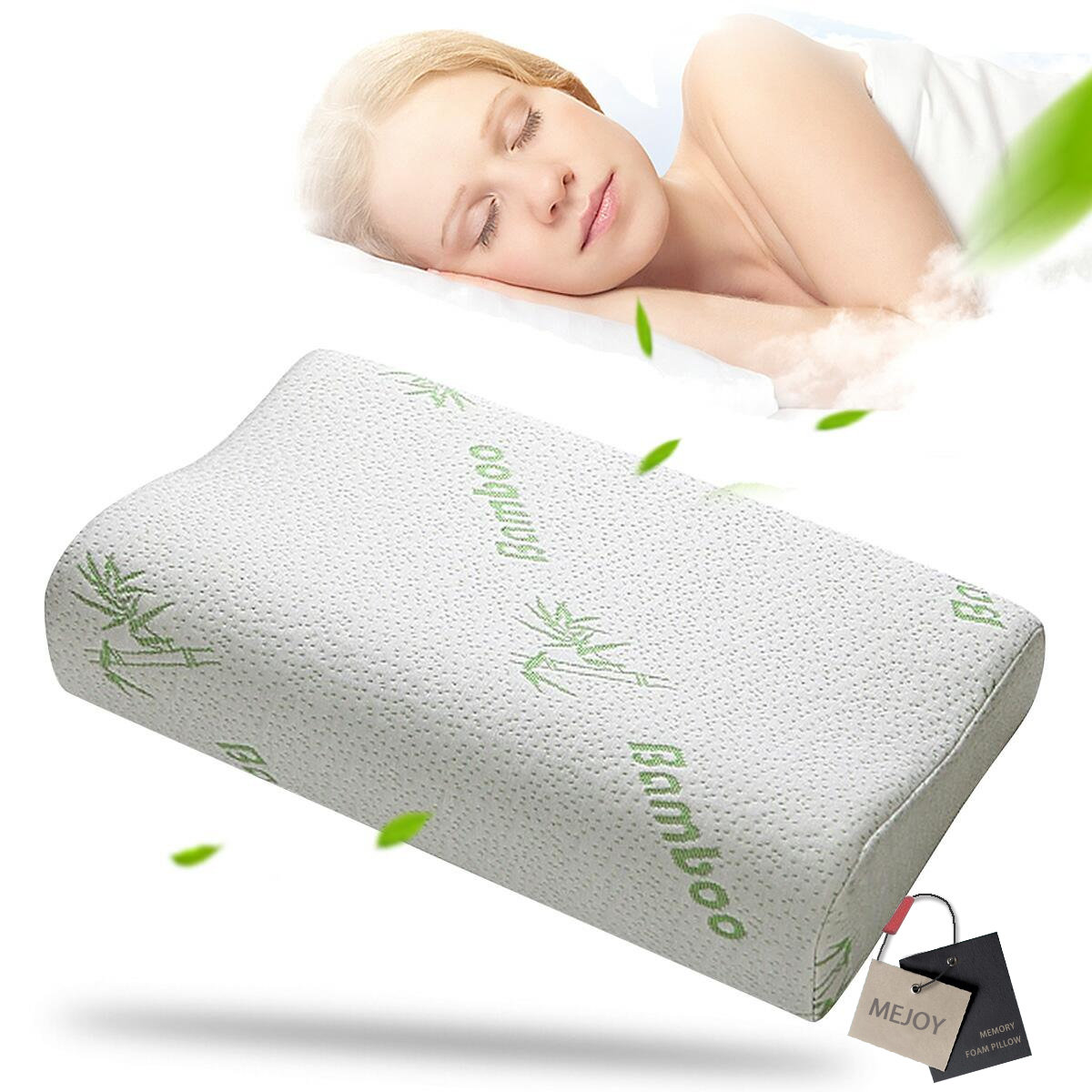 comfort contour orthopedic bamboo fiber sleeping pillow memo