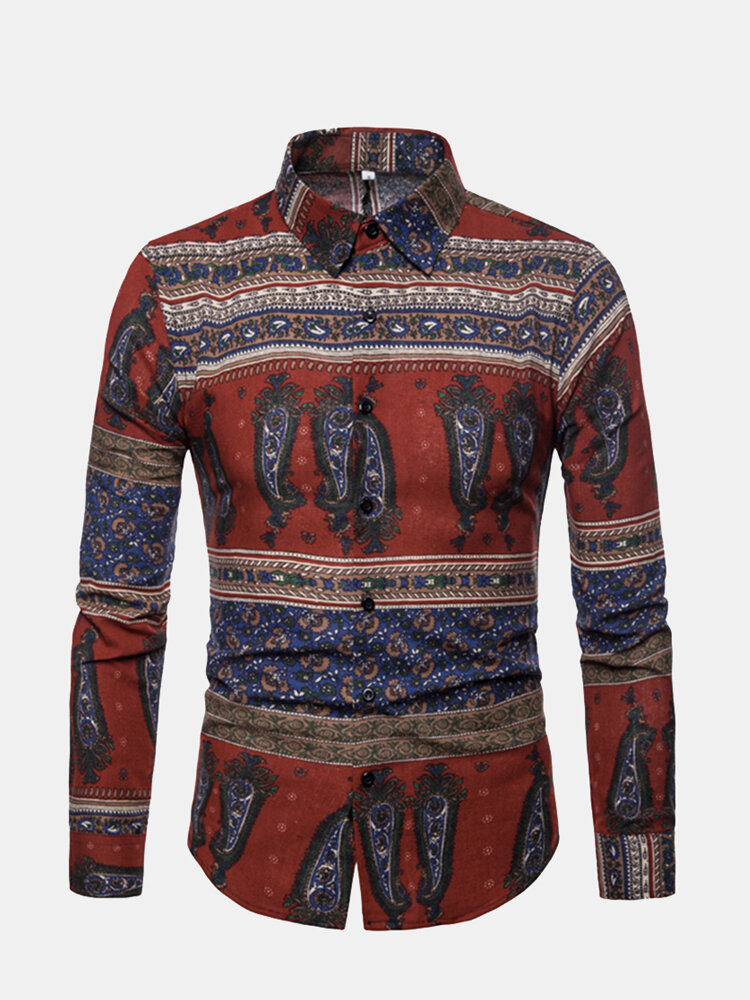 Retro Traditional African Printed Shirt