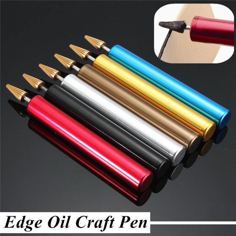 1pcs For Leather Craft DIY Brass Head Leather Edge Oil Craft Pen Random Color