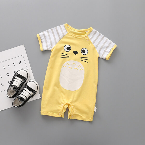 Animal Pattern Baby Romper For 0-24M