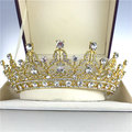 Bride Crystal Rhinestone Crown Vintage Wedding Bridal Headband QueenTiara Hair Accessories