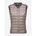 Casual Pure Color Button Sleeveless Women Down Vest Coats