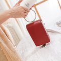 Stylish Candy Color PU Leather 5.5inch Phone Bag Shoulder Bags Crossbody Bags